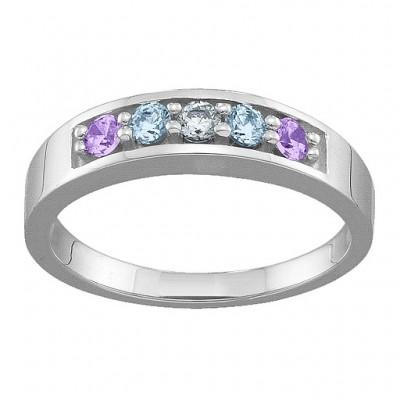 Geometric 3-6 Stones Ring  - Name My Jewelry ™