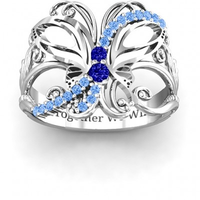 Glimmering Butterfly Ring - Name My Jewelry ™