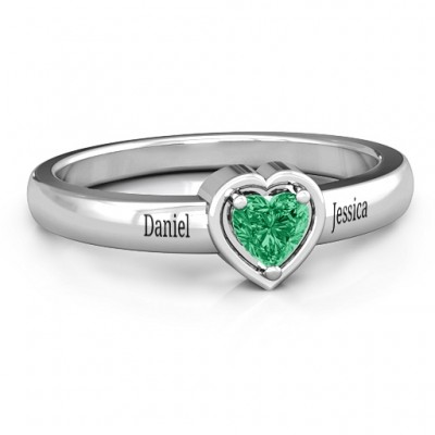 Heart in a Heart Ring - Name My Jewelry ™