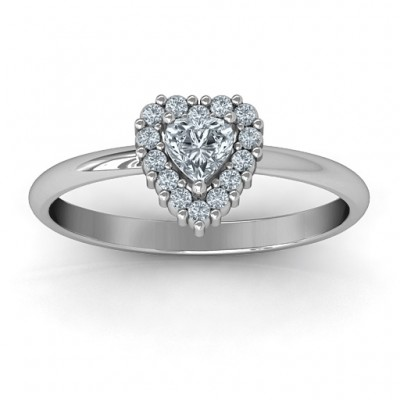 Heart with Halo Promise Ring - Name My Jewelry ™