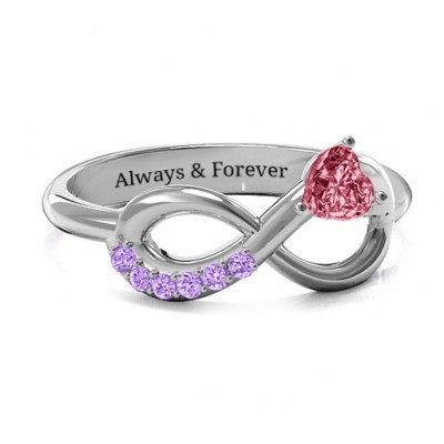 Infinity In Love Ring with Accents - Name My Jewelry ™