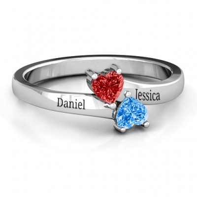 Inverted Twin Heart Ring - Name My Jewelry ™