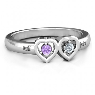Kissing Hearts Ring - Name My Jewelry ™