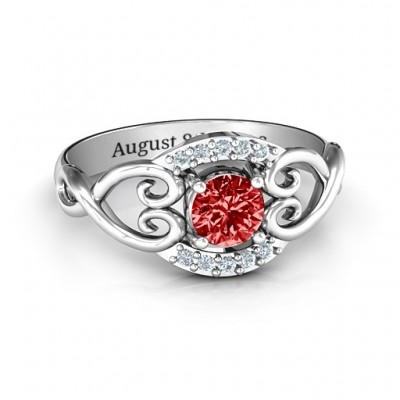 Lasting Love Promise Ring with Accents - Name My Jewelry ™