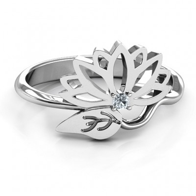 Leaves and Lotus Wrap Ring - Name My Jewelry ™