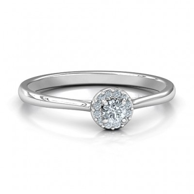 Little Luxury Halo Ring - Name My Jewelry ™