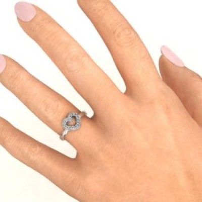 Love Story Heart Accent Ring - Name My Jewelry ™