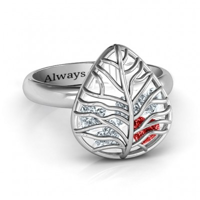 Lovely Lilac Cage Leaf Ring - Name My Jewelry ™