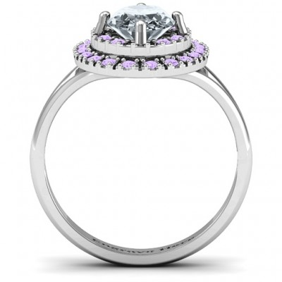 Margaret Double Halo Ring - Name My Jewelry ™