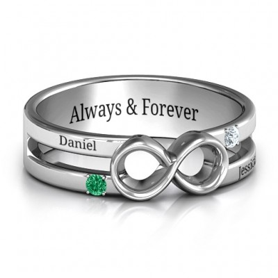 Men's Accented Infinity Ring - Name My Jewelry ™