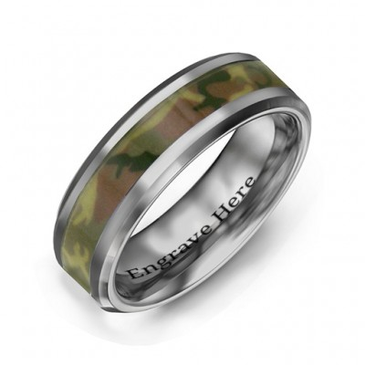 Men's Camouflage Tungsten Ring - Name My Jewelry ™