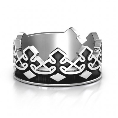 Men's Regal Crown Band - Name My Jewelry ™