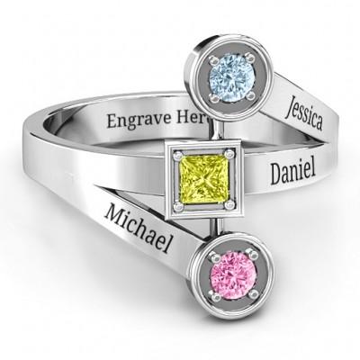 Modern Birthstone Ring  - Name My Jewelry ™