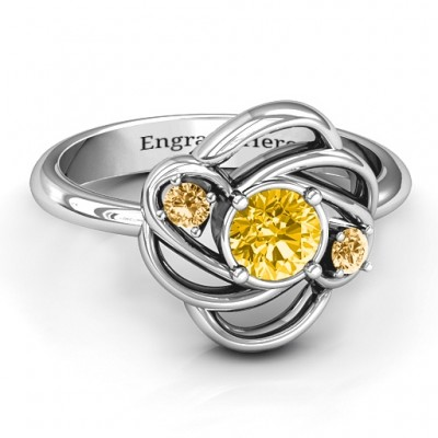 Multi Stone Love Knot Ring  - Name My Jewelry ™
