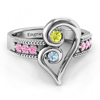 Nesting Love Ring - Name My Jewelry ™