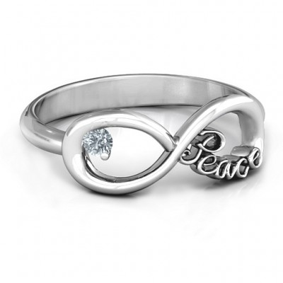 Peace Infinity Ring - Name My Jewelry ™