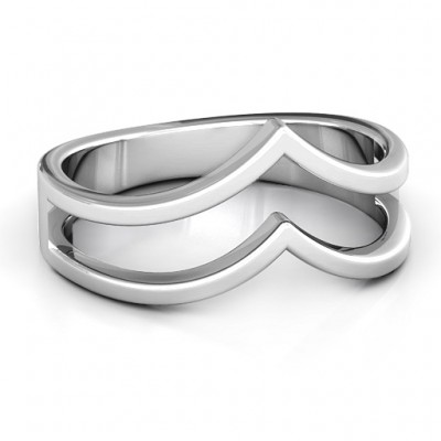 Peaks and Valleys Geometric Ring - Name My Jewelry ™