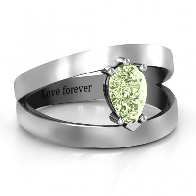 Pear With Flair Ring - Name My Jewelry ™