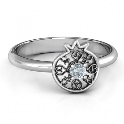 Pomegranate with Filigree Ring - Name My Jewelry ™
