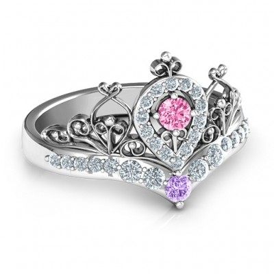 Queen Of My Heart Tiara Ring - Name My Jewelry ™