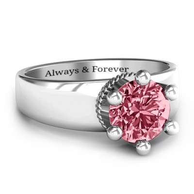 Radiant Royal Crown Ring - Name My Jewelry ™