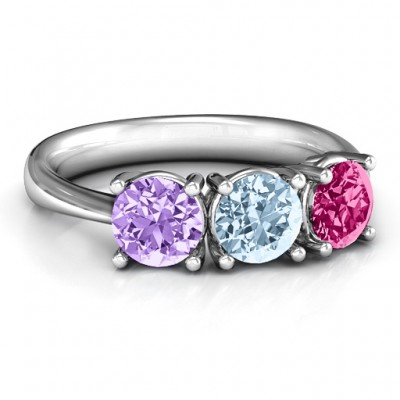 Radiant Trinity Ring - Name My Jewelry ™