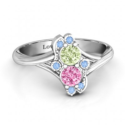 Sense of Style Two Stone Ring  - Name My Jewelry ™