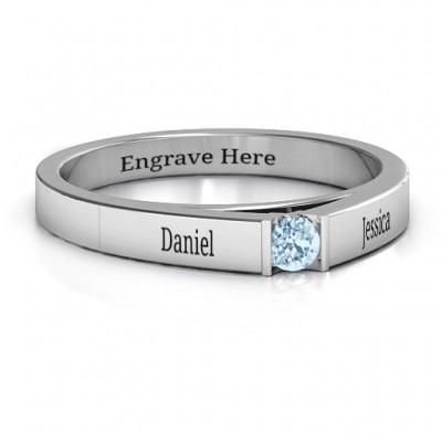 Solitaire Bridge Ring - Name My Jewelry ™