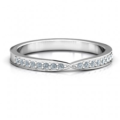 Sparkling Skitip Band - Name My Jewelry ™