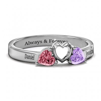 Sparkling Sweethearts Two-Stone Ring  - Name My Jewelry ™