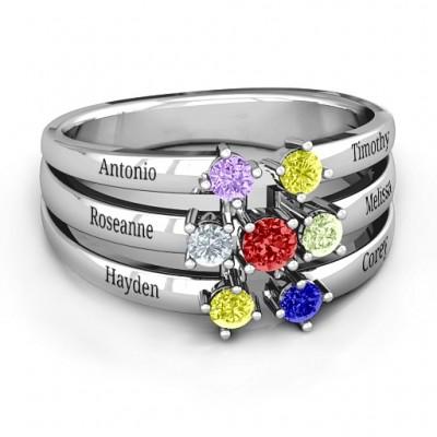 Spidra' Round Centre Ring - Name My Jewelry ™