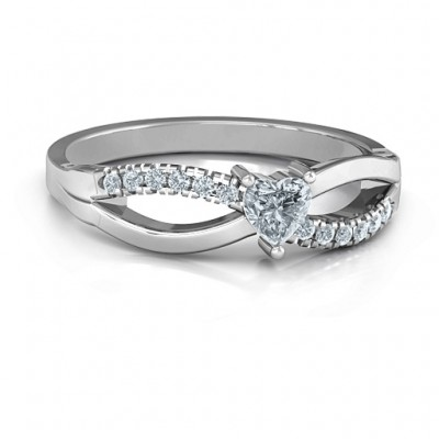 Split Shank Heart Promise Ring - Name My Jewelry ™