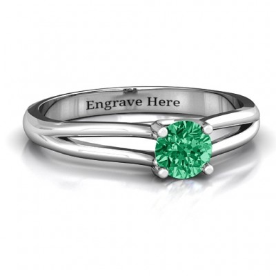 Split Shank Solitaire Ring - Name My Jewelry ™