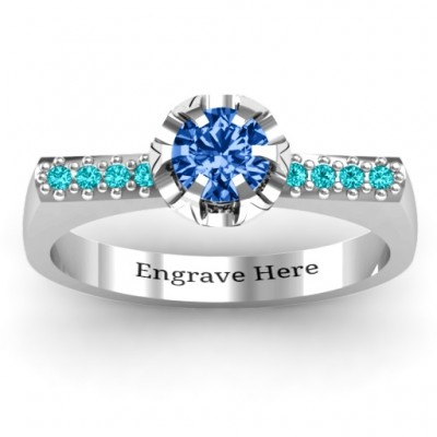 Square Shoulder with Illusion Setting Ring - Name My Jewelry ™