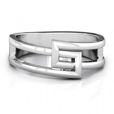 Square on Square Geometric Ring - Name My Jewelry ™