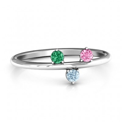 Stackable Sparkle 1-5 Stone Ring  - Name My Jewelry ™