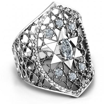 Star of David Lattice Ring - Name My Jewelry ™