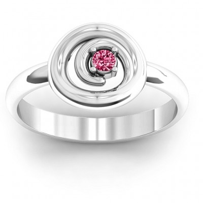 Sterling Silver  Swirling Desire  Ring - Name My Jewelry ™