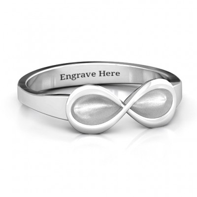 Sterling Silver  Vogue  Infinity Ring - Name My Jewelry ™