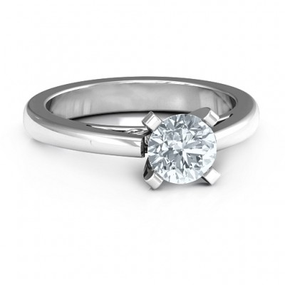 Sterling Silver Adoration Solitaire Ring - Name My Jewelry ™