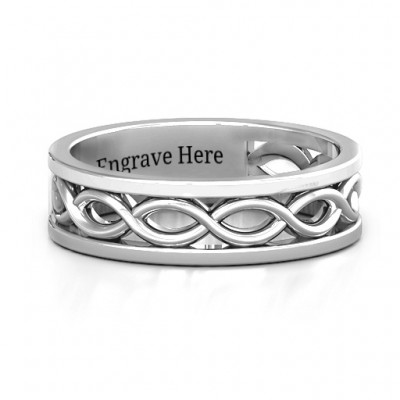 Sterling Silver Diadem Infinity Women's Ring - Name My Jewelry ™