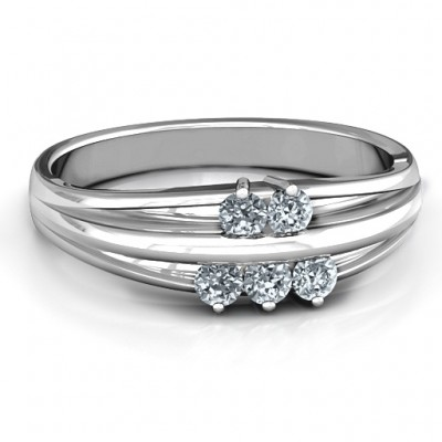 Sterling Silver Everlasting Bonds Ring - Name My Jewelry ™