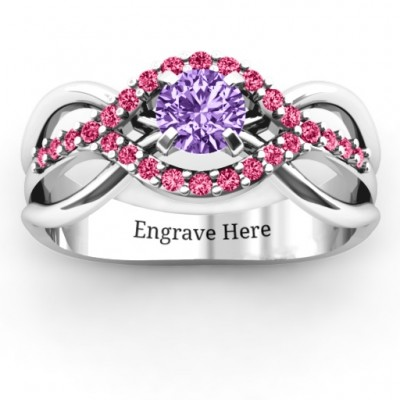 Sterling Silver Fancy Woven Ring - Name My Jewelry ™