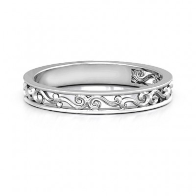 Sterling Silver Filigree Band Ring - Name My Jewelry ™