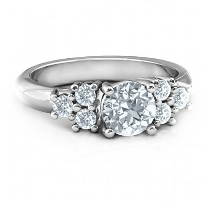 Sterling Silver Flourish Engagement Ring - Name My Jewelry ™