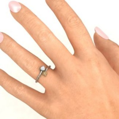 Sterling Silver Heart & Arrow Ring - Name My Jewelry ™