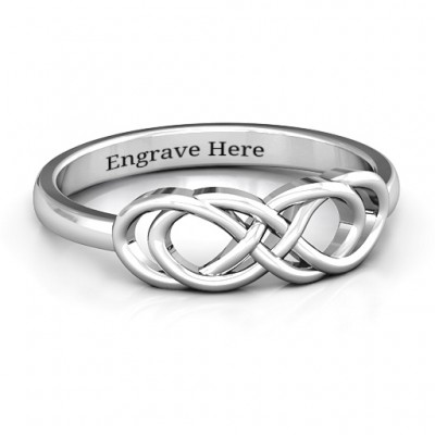 Sterling Silver Infinity Knot Ring - Name My Jewelry ™