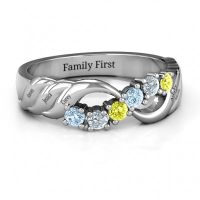 Sterling Silver Infinity and Wave Ring - Name My Jewelry ™