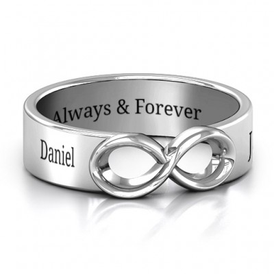 Sterling Silver Men's Expression of Infinity Band - Name My Jewelry ™