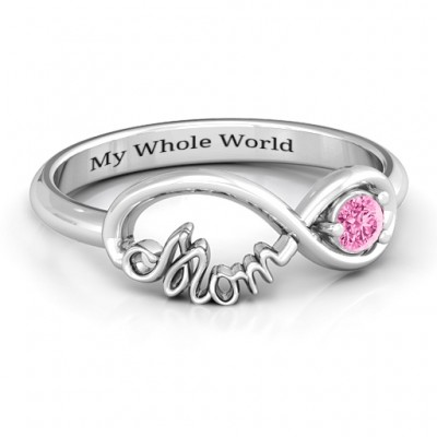 Sterling Silver Mom's Infinity Bond Ring - Name My Jewelry ™